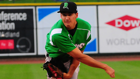 Robert Stephenson of host Dayton leads the Midwest League in strikeouts.