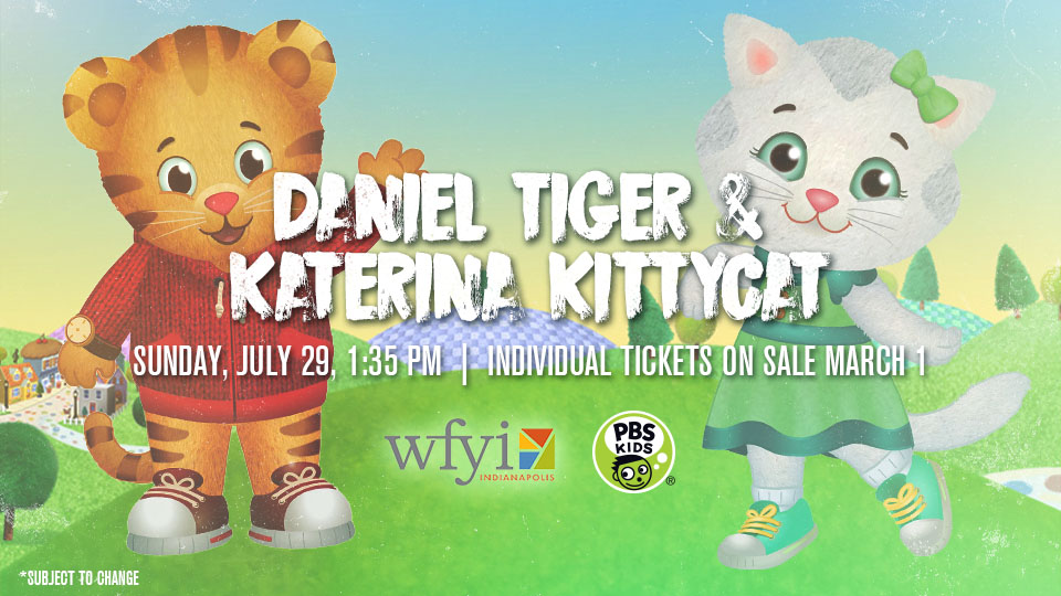 Daniel Tiger and Katerina Kittycat Coming to Victory Field July 29 ...