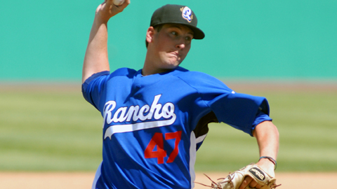 Duke von Schamann already has pitched at four levels in the Dodgers system.