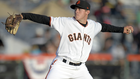Ty Blach is among the Cal League leaders in wins, ERA and WHIP.