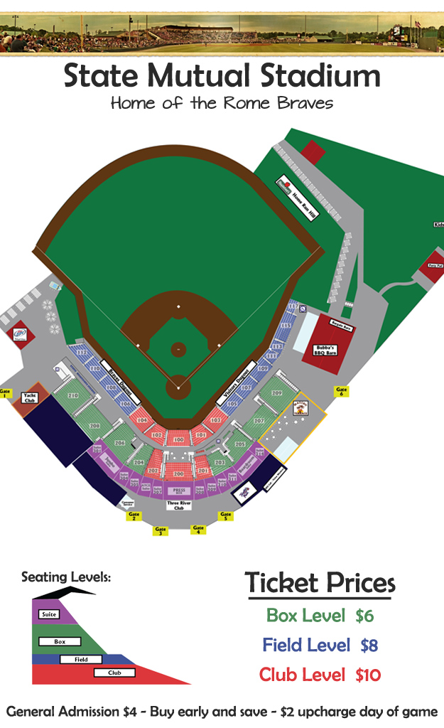 Seating Chart Rome Braves Tickets