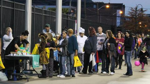 The annual Trick-or-Treat at Appalachian Power Park saw record attendance in 2016 with over 3,000 in attendance for the free event.