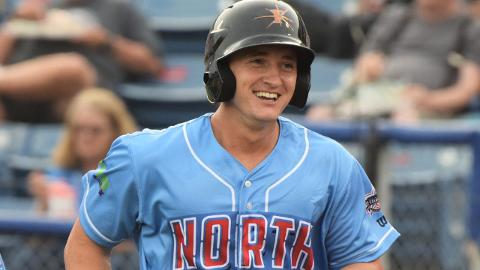 Austin Hays has earned attention for his bat speed and compact right-handed swing.