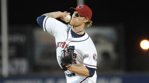 Michael Foltynewicz is 1-0 with a 3.19 ERA in eight games at two levels.