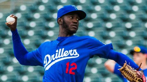 Yadier Alvarez has recorded at least five strikeouts in 13 of his 19 outings this season.
