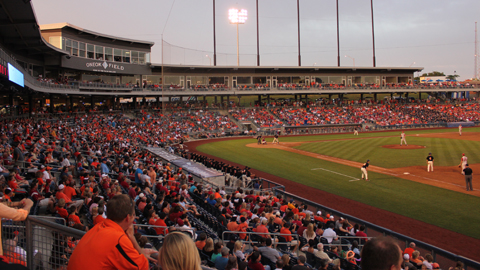 Tulsa and ONEOK Field will host the Phillips 66 Big 12 Baseball Championship for the first time in May 2015.