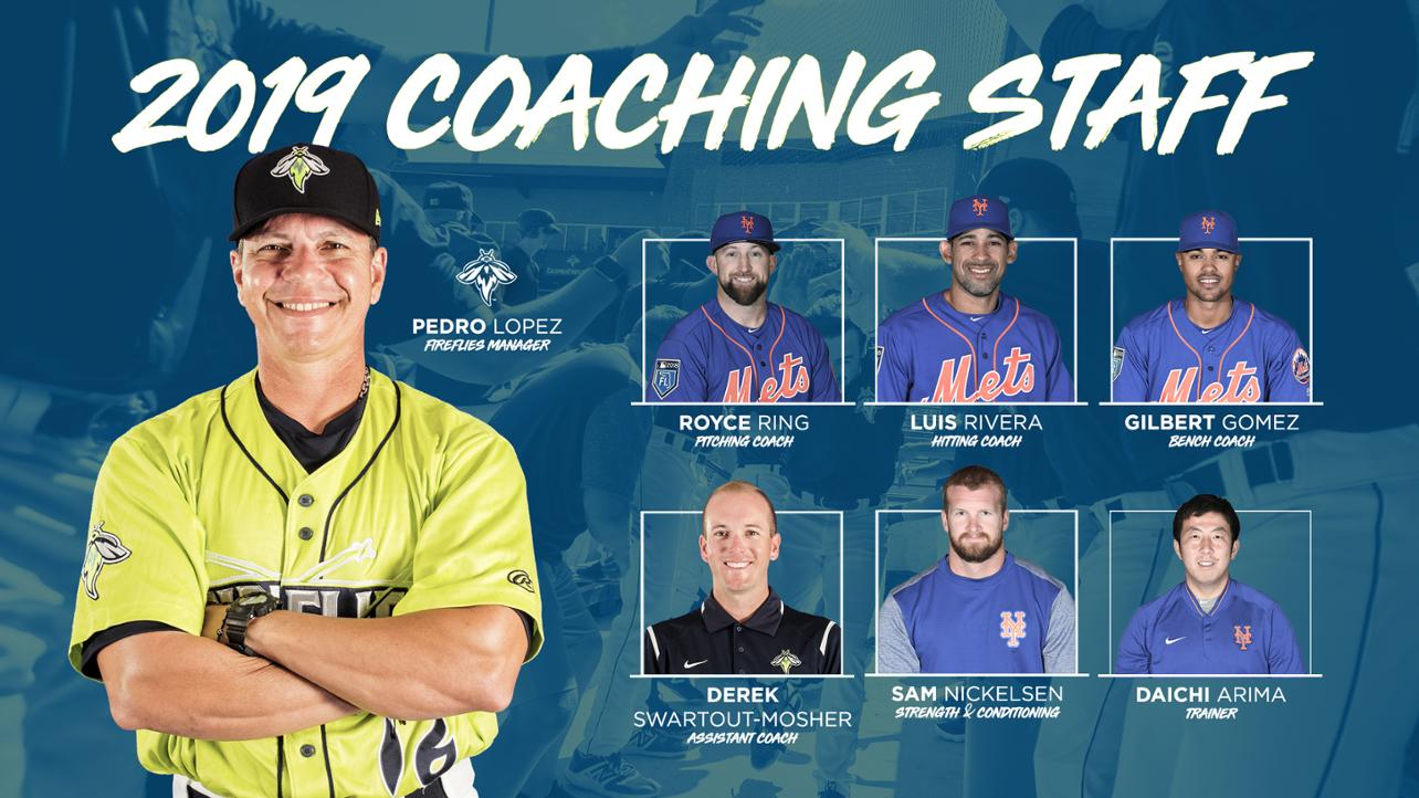 New Names to Join the Fireflies Coaching Staff
