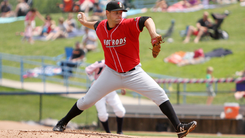 Jeff Ames ranks second in the Midwest League with a 1.96 ERA.
