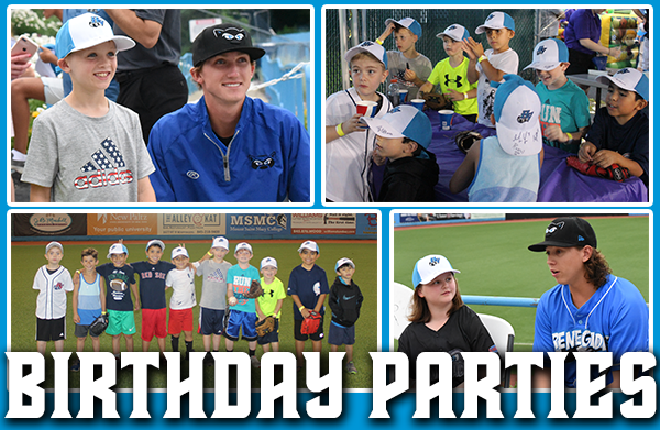 Rascals MVP Birthday Package Includes
