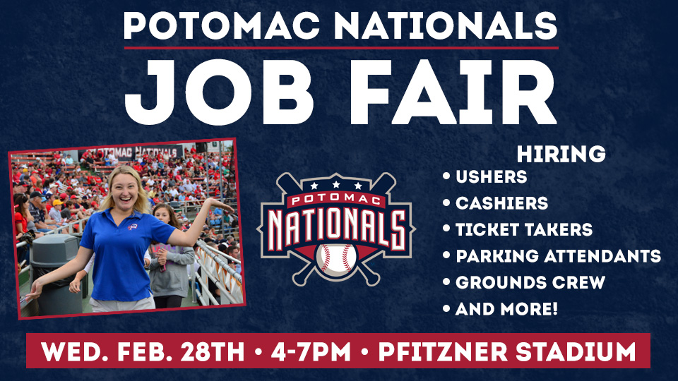 Fredericksburg Events February 2020.2018 P Nats Seasonal Job Fair At Pfitzner Stadium Scheduled