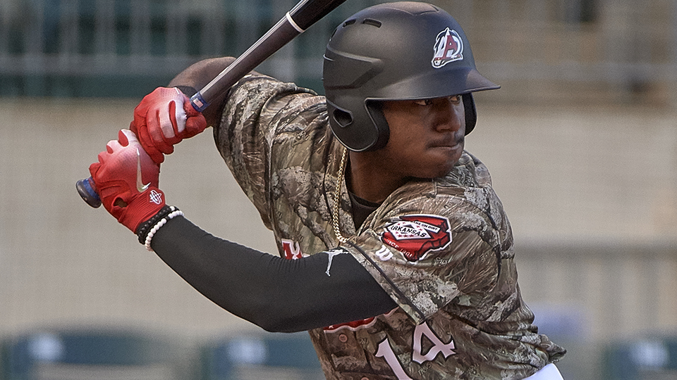 69ebc0b0b6e Kyle Lewis picked up two hits and scored twice in his Double-A debut on  July 21. (Mark Wagner Arkansas Travelers)