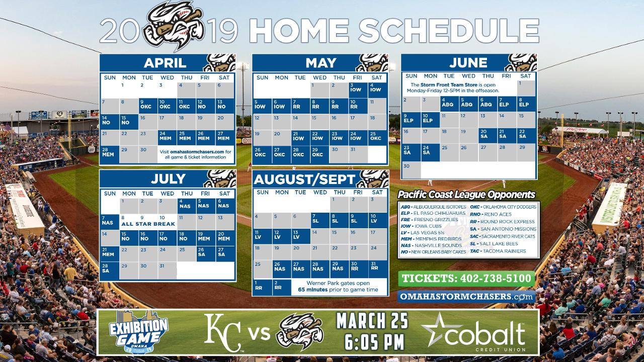 2019 Chasers Home Schedule Revealed Omaha Storm Chasers News