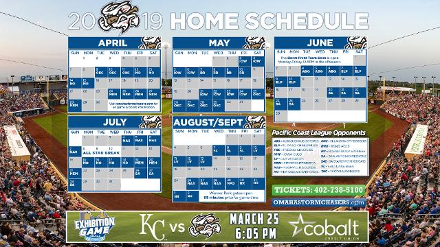 graphic regarding Kc Royals Schedule Printable named 2019 Chasers House Plan Disclosed  Information