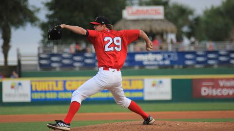 Brevard County Manatees starting pitcher Drew Gagnon was named the Florida State League Pitcher of the Week for the period of April 29-May 5. In his start on May 1, he threw seven perfect innings and struck out a career-high ten batters.