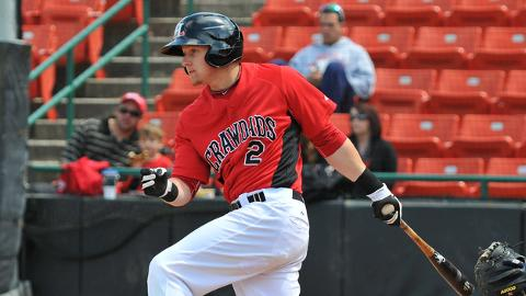 Ryan Rua is batting .246 with 24 homers and 64 RBIs at Hickory.