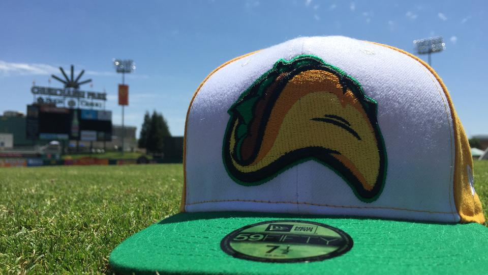 fa24f4507b401 The Fresno Tacos cap is currently on sale in the FresnoGrizzlies.com Online  Shop