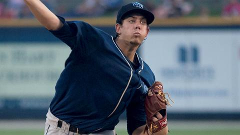 Aaron Blair averaged 8.9 strikeouts per nine innings in eight starts with Double-A Mobile.
