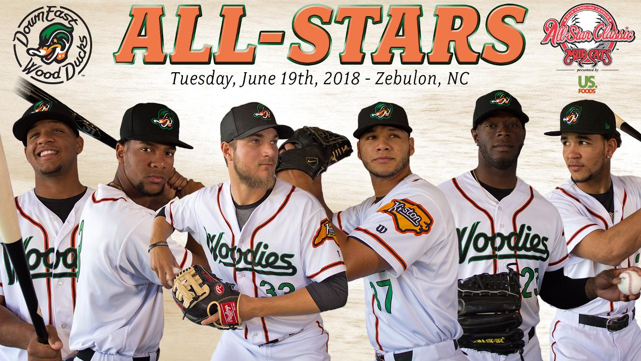 96153a18d94 Six Wood Ducks Named to the 2018 Carolina League All-Star Classic. Down  East is tied for the most representatives from a single team at this year's  game
