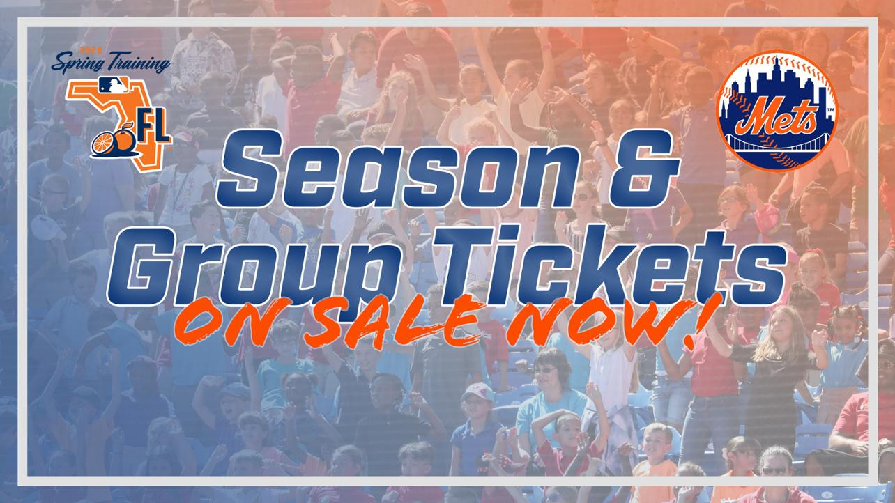 Spring training season tickets and group tickets on sale