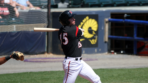 Brett Krill went two for three at the plate on Sunday.
