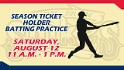 Season Ticket Holder Batting Practice this Saturday!