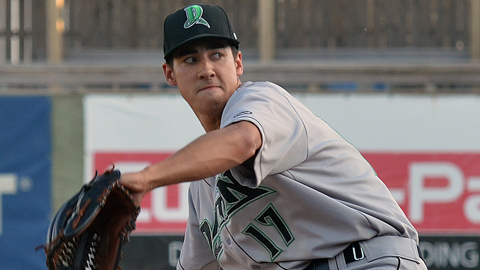 Robert Stephenson ranks fifth in the Midwest League with a 2.57 ERA.