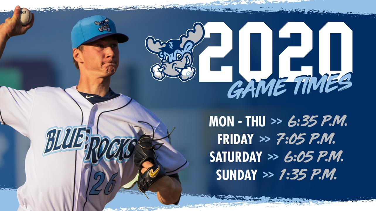 Rocks Announce Game Times for 2020 Home Slate