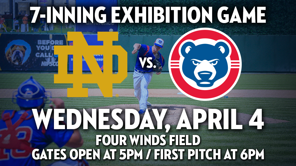 South Bend Cubs To Play University Of Notre Dame In Exhibition Game