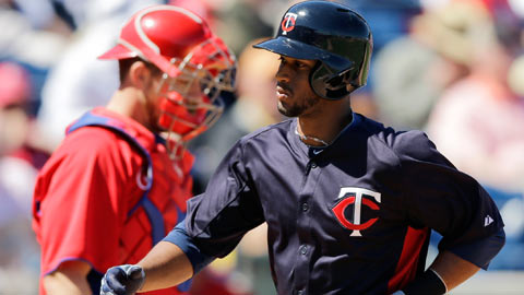 Aaron Hicks now has four longballs in seven Spring Training games.