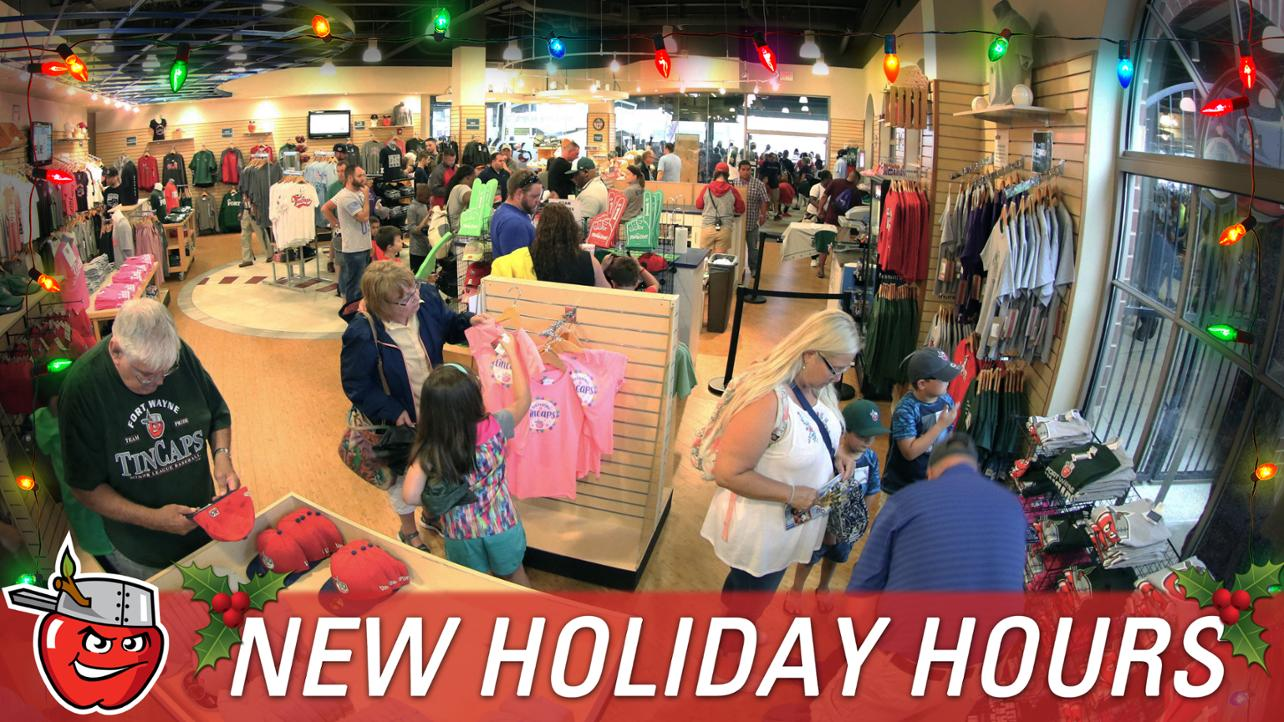 111418 TinCaps Extending Team Store Hours for Holiday Season, Offering Special Deals for Fans
