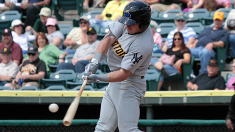 Slade Heathcott is hitting .235 for Trenton this season.