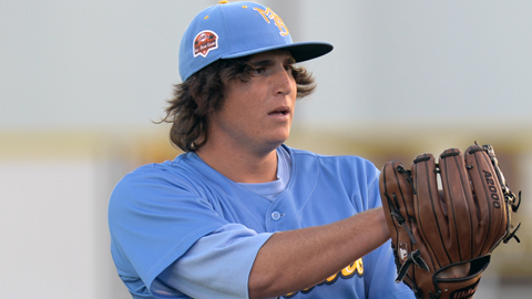 Carolina League All Star Luke Jackson has yet to allow a run in Double-A.
