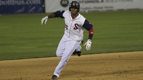 Keury De La Cruz has 18 doubles in 54 games for the Red Sox this season.