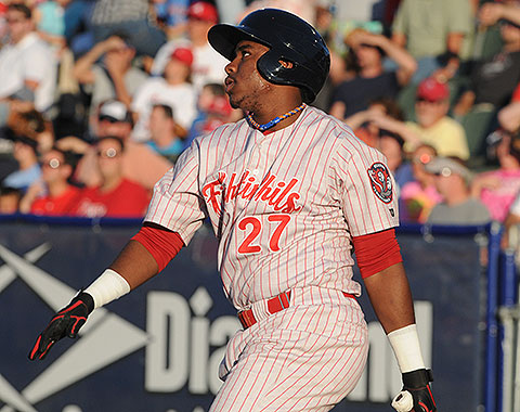 Maikel Franco hit two home runs on Friday. It was his first multi-HR game in Double-A.