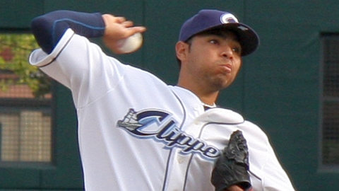 Jeanmar Gomez was named IL Player of the Week after pitching a two-hitter in July.