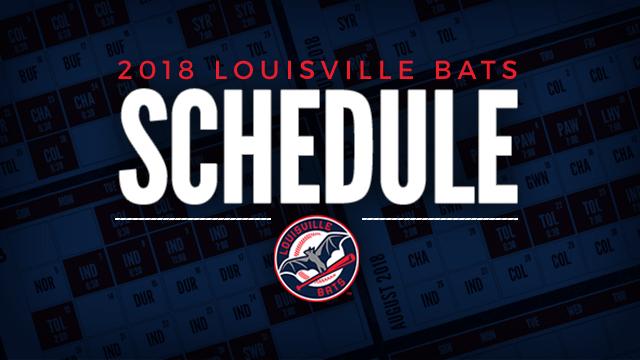 Louisville Bats 2019 Schedule Bats release 2018 schedule | Louisville Bats News