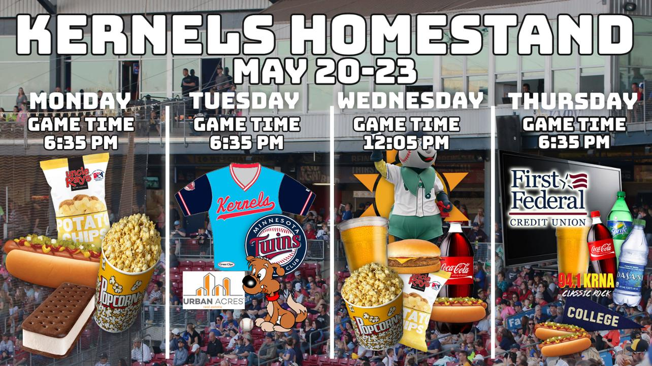Kernels Homestand Preview: May 20-27