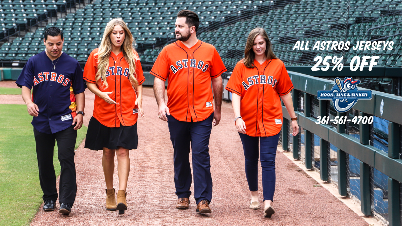 Astros Jerseys Now 25% Off In-Store Only