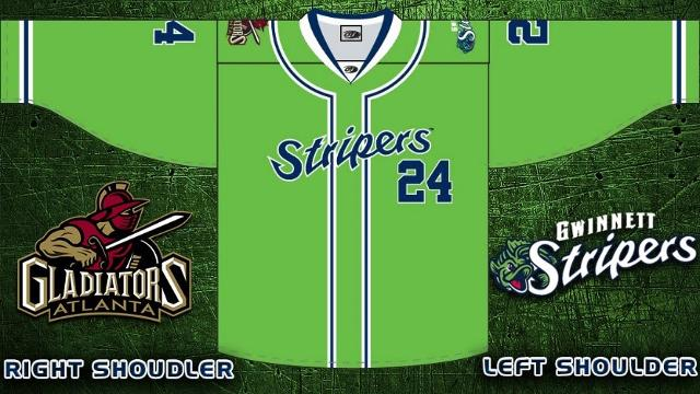 Gladiators to wear Stripers-themed hockey jerseys for warmups as part of  the festivities on March 17 7e209cdbd