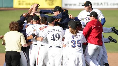 Brewers, Indians, Orioles, Rangers and Red Sox prospects celebrated the win.