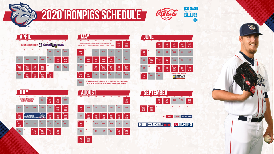 Railriders Schedule 2020 IronPigs announce 2020 schedule | Lehigh Valley IronPigs News