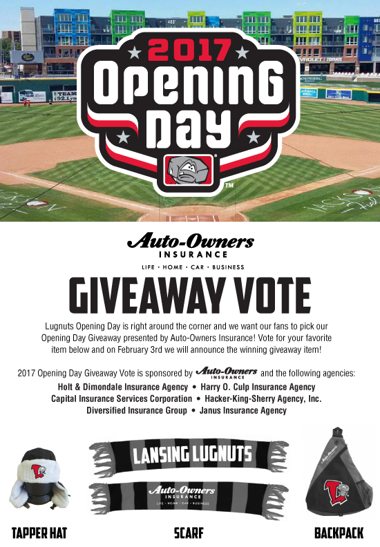 2017 opening day giveaway vote lansing lugnuts content