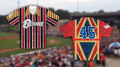 As part of Friday's tribute to David Bowie, the Bowie Baysox tweak the pronunciation of their name and become the Bowie Baysox.