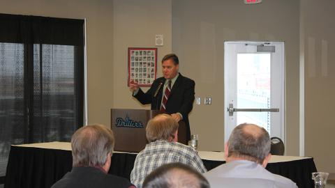 The TSC monthly luncheon at ONEOK Field was a great success Tuesday thanks to Bob Carpenter, who thoroughly entertained the many baseball fans in attendance.