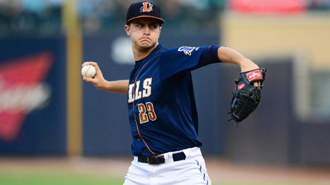 Jake Odorizzi ranks second in the International League with 124 strikeouts.