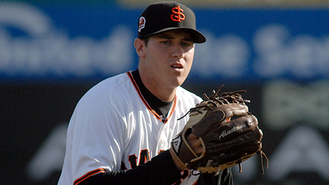 San Jose's Ty Blach fanned a career-high 11 batters against Inland Empire Wednesday.