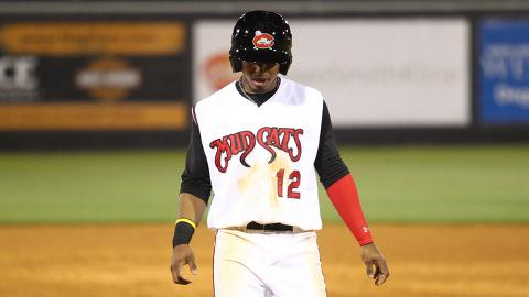 Francisco Lindor leads the Carolina League with 38 hits in 27 games.