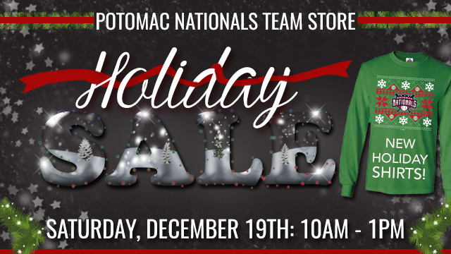 3a95f1a9 Potomac Nationals' Merchandise Shop at Pfitzner Stadium to Feature Holiday  Savings on Official Team Gear and Seasonal Cheer