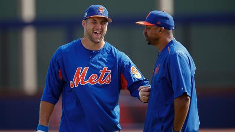Mets outfielder Tim Tebow will begin his Minor League career at Class A Columbia on April 6.