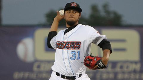 Jaime Barria posted a 2.48 ERA and 0.93 WHIP in 11 starts this season with Class A Advanced Inland Empire.